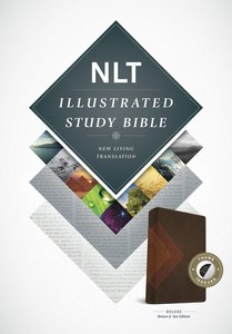 NLT Illustrated Study Bible Brown/Tan Indexed (Black Letter Edition)