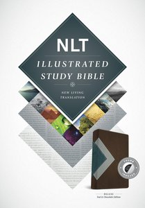 NLT Illustrated Study Bible Teal/Chocolate Indexed (Black Letter Edition)