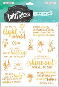 Matthew 5:14-16 (2 Sheets, 28 Stickers) (Stickers Faith That Sticks Series)