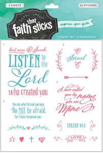 Isaiah 43:1 (2 Sheets, 36 Stickers) (Stickers Faith That Sticks Series)