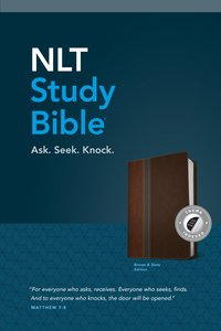 NLT Study Bible Indexed Brown Slate Tutone (Red Letter Edition)