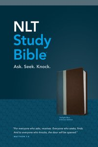 NLT Study Bible Twilight Blue/Brown Tutone (Red Letter Edition)