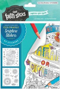 Joshua 1:9 (4 Sheets, 64 Colorable Stickers) (Stickers Faith That Sticks Series)