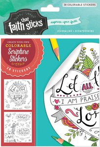 Psalm 103:2 (4 Sheets, 38 Colorable Sheets) (Stickers Faith That Sticks Series)