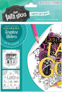 Psalm 46:10 (4 Sheets, 28 Colorable Stickers) (Stickers Faith That Sticks Series)
