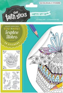 Psalm 16:11 (4 Sheets, 26 Colorable Stickers) (Stickers Faith That Sticks Series)