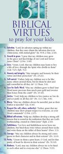 31 Biblical Virtues to Pray For Your Kids (Pack Of 50)