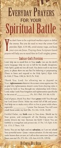 Everyday Prayers For Your Spiritual Battle (50 Pack)