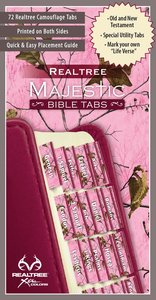 Realtree Bible Tabs Pink Camouflage