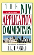 1 & 2 Samuel (Niv Application Commentary Series) Hardback