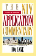 Leviticus/Numbers (Niv Application Commentary Series)