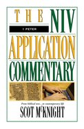 1 Peter (Niv Application Commentary Series) Hardback