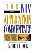 Luke (Niv Application Commentary Series) Hardback