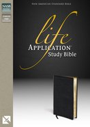 NASB Life Application Study Bible Black (Black Letter Edition) Bonded Leather