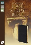Zondervan NASB Updated Study Bible Black Genuine Leather