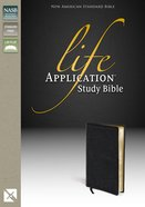 NASB Updated Life Application Bible Black (Black Letter Edition) Genuine Leather