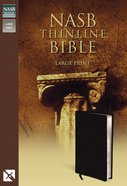 NASB Updated Edition Thinline Large Print Black (Red Letter Edition) Bonded Leather