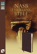 NASB Updated Edition Thinline Large Print Burgundy (Red Letter Edition) Bonded Leather
