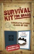 2016 NKJV Survival Kit For Grads Slate Blue Male (Red Letter Edition)