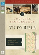NIV Cultural Backgrounds Study Bible Sage/Leaves Indexed (Red Letter Edition) Premium Imitation Leather