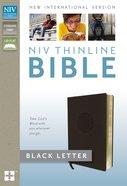 NIV Thinline Bible Dark Brown Imitation Leather