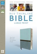 NIV Thinline Bible Large Print Turquoise Italian Duo-Tone Imitation Leather