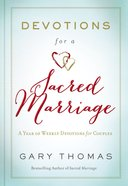 Devotions For a Sacred Marriage Hardback