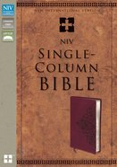 NIV Single-Column Bible Cranberry (Black Letter Edition) Premium Imitation Leather