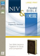 Niv/The Message Side-By-Side Bible Large Print Brown Duo-Tone