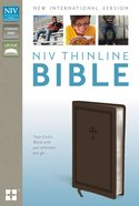 NIV Thinline Bible Cross Chocolate Duo-Tone (Red Letter Edition)