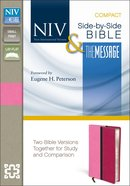 NIV Message Side-By-Side Bible Compact Pink/Hot Pink Imitation Leather