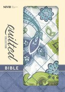 NIV Compact Thinline Bible Quilted Blue Paisley (Red Letter Edition) Imitation Leather