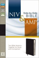 Niv/Amp Side-By-Side Bible Black (Black Letter Edition) Bonded Leather