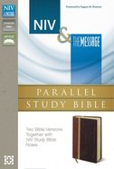 Niv/Msg Side-By-Side Study Personal Size Dark Brown/Brown (Black Letter Edition) Premium Imitation Leather