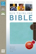 NIV Thinline Bible Chocolate/Turquoise (Red Letter Edition) Imitation Leather
