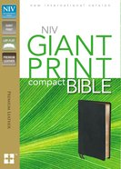 NIV Compact Giant Print Black (Black Letter Edition) Genuine Leather