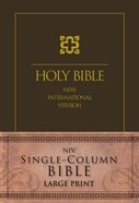 NIV Single-Column Large Print Bible Cascade Brown