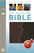 NIV Thinline Bible Italian Duo-Tone Chocolate/Espresso (Red Letter Edition)