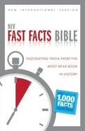 NIV Fast Facts Bible Paperback