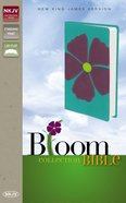 NKJV Bloom Collection Bible Purple Flower (Red Letter Edition) Imitation Leather
