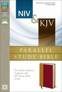 Niv/Kjv Side-By-Side Study Bible Italian Duo-Tone Orange/Red Imitation Leather