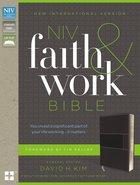 NIV Faith and Work Bible Gray (Black Letter Edition) Premium Imitation Leather
