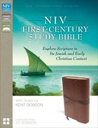 NIV First-Century Study Bible Brown (Black Letter Edition) Premium Imitation Leather
