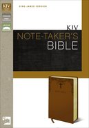 KJV Note-Taker's Bible Caramel (Red Letter Edition)