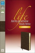 NIV Life Application Study Large Print Brown (Red Letter Edition)
