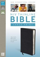 NIV Large Print Thinline Bible Black (Red Letter Edition)