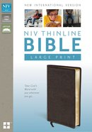 NIV Large Print Thinline Brown (Red Letter Edition) Bonded Leather