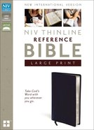 NIV Thinline Reference Large Print Navy (Red Letter Edition) Bonded Leather