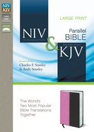 Niv/Kjv Side By Side Bible Large Print Orchid/Chocolate (Black Letter Edition) Premium Imitation Leather