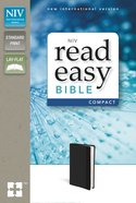 NIV Read Easy Bible Compact Black (Red Letter Edition) Imitation Leather